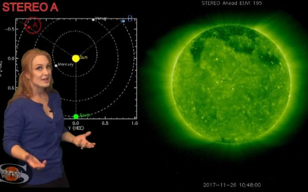 A Mini Solar Storm with a Fast Wind Chaser   Space Weather News 02.20.2020
