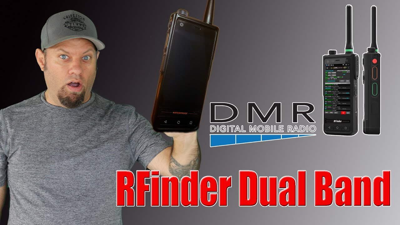RFinder B1 Android Dual Band DMR Radio | First Look! [VIDEO]