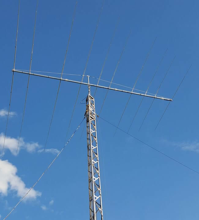 Band Optimised Log Periodic Dipole Array 14MHz to 30MHz – by G0KSC