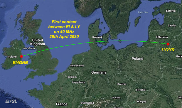 First contact made on 40 MHz between Ireland and Lithuania