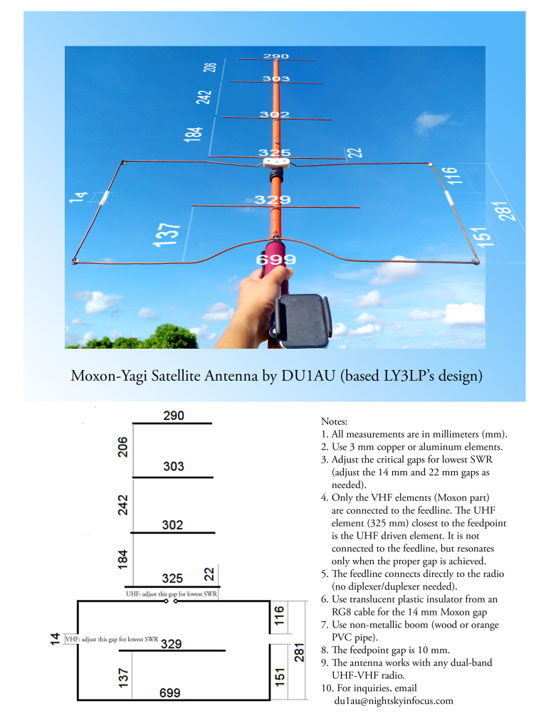 DIY Satellite Antenna DU1AU