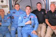Astronauts Bob Behnken, KE5GGX, and Doug Hurley Settling in after Historic Flight