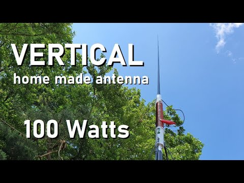 MULTIBAND VERTICAL PORTABLE ANTENNA – home made