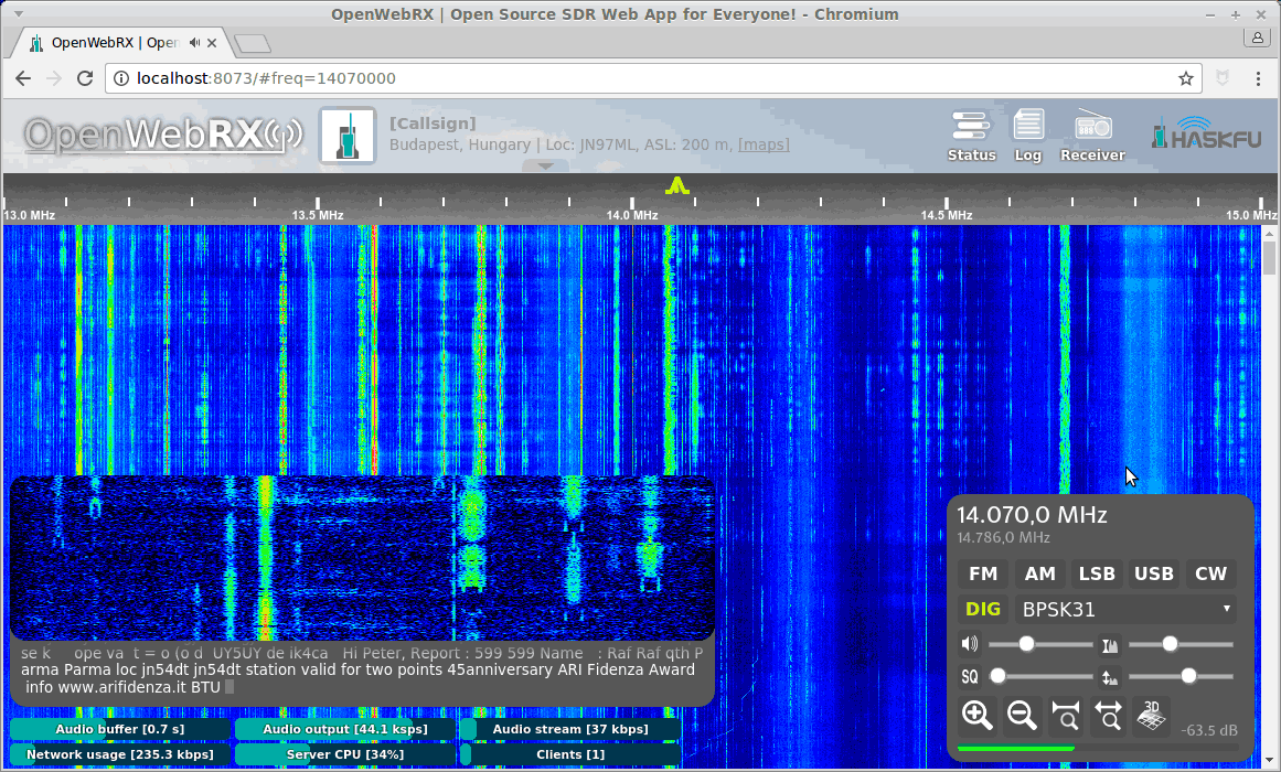 The SDR.hu project has been finished