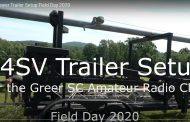 K4SV Tower Trailer Setup Field Day 2020