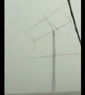 Storm destroys antennas of IS0FWY