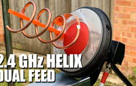 2.4 GHz Dual Feed Helix Antenna For QO100