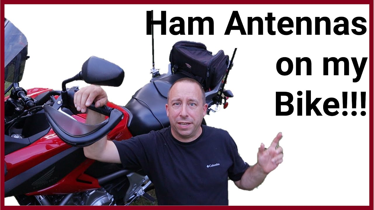 Ham Radio Antenna Project: Ham Sticks on a Motorcycle!
