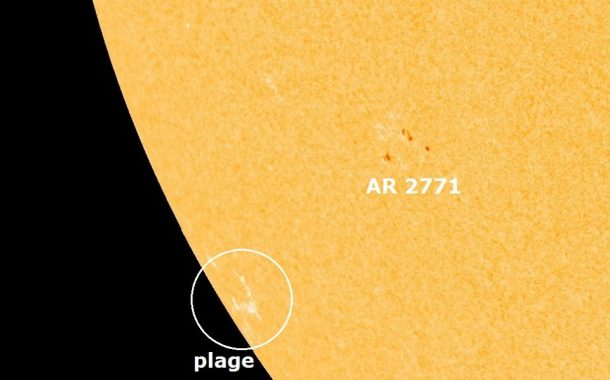 A new active region (AR2771) belonging to Cycle 25