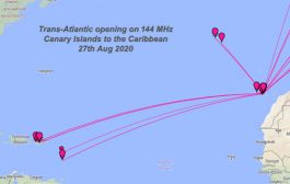 Trans-Atlantic opening on 144 MHz between the Canary Islands & the Caribbean