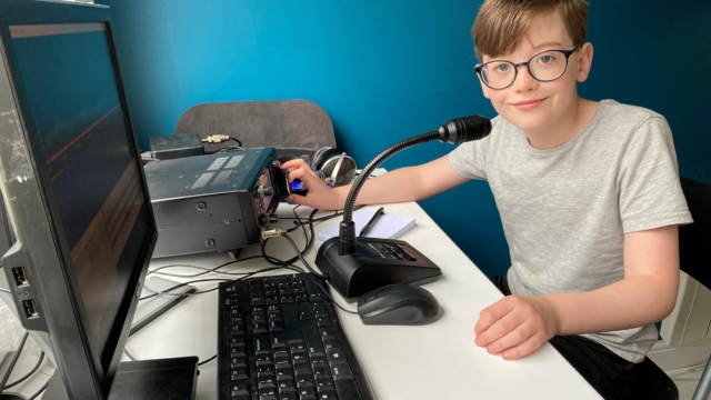 Coronavirus in the UK: Meet the child radio enthusiast making friends thousands of miles away during lockdown
