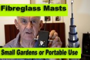 Spiderbeam Fibreglass Masts for Small Gardens and Portable Use