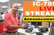Icom IC-705 Live Stream Announcement!
