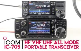 Comparing The ICOM IC-705 HF QRP & ICOM IC-7300 Transceivers