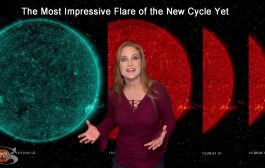 A Spectacular Solar Flare Fire Plume & New Bright Regions