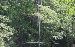 Small Garden Vertical HF Antenna Installation