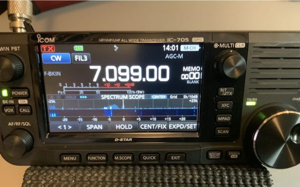 Ham radio & 3D printing – A very portable table stand for the Icom IC-705.