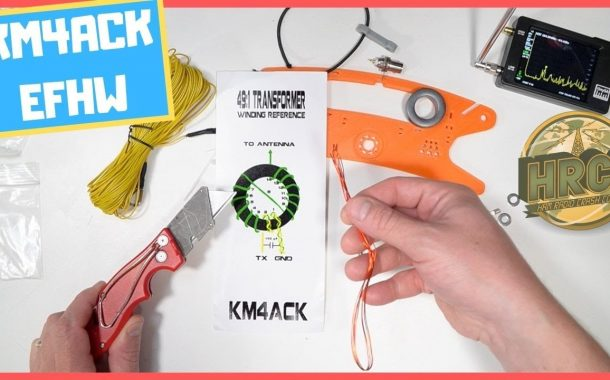 KM4ACK End Fed Half Wave Antenna Build And Review