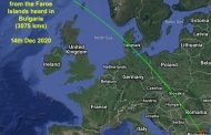 144 MHz signal from the Faroe Islands heard 3000kms away in Bulgaria during Geminid Meteor Shower – Dec 2020
