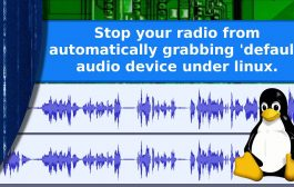 Ham radio and Linux – Stop your radio from automatically becoming the default audio device.