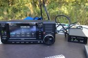 Icom IC-705 with the mAT-705 Portable Tuner