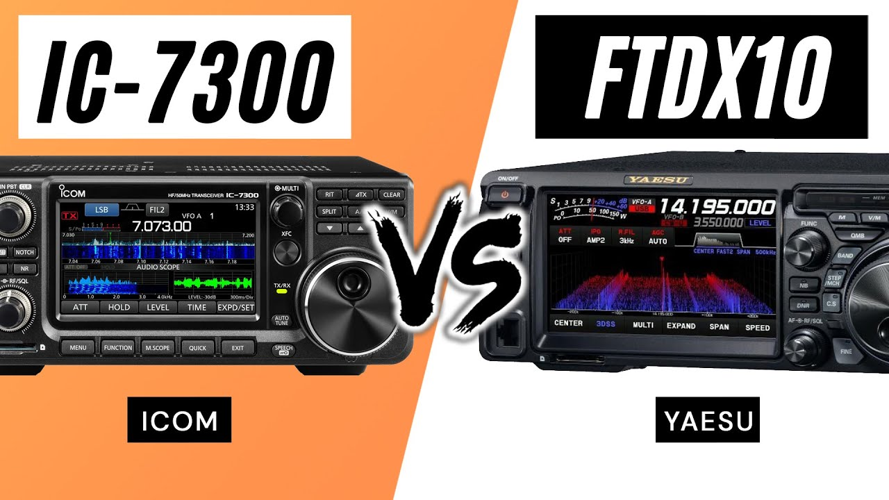 FTdx10 vs IC-7300 Comparison