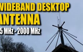 Wideband Desktop Discone Antenna – 25 MHZ – 2000 MHz Coverage