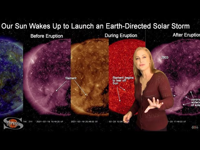 A Filament Slingshots Towards Earth | Solar Storm Forecast 02.22.2021