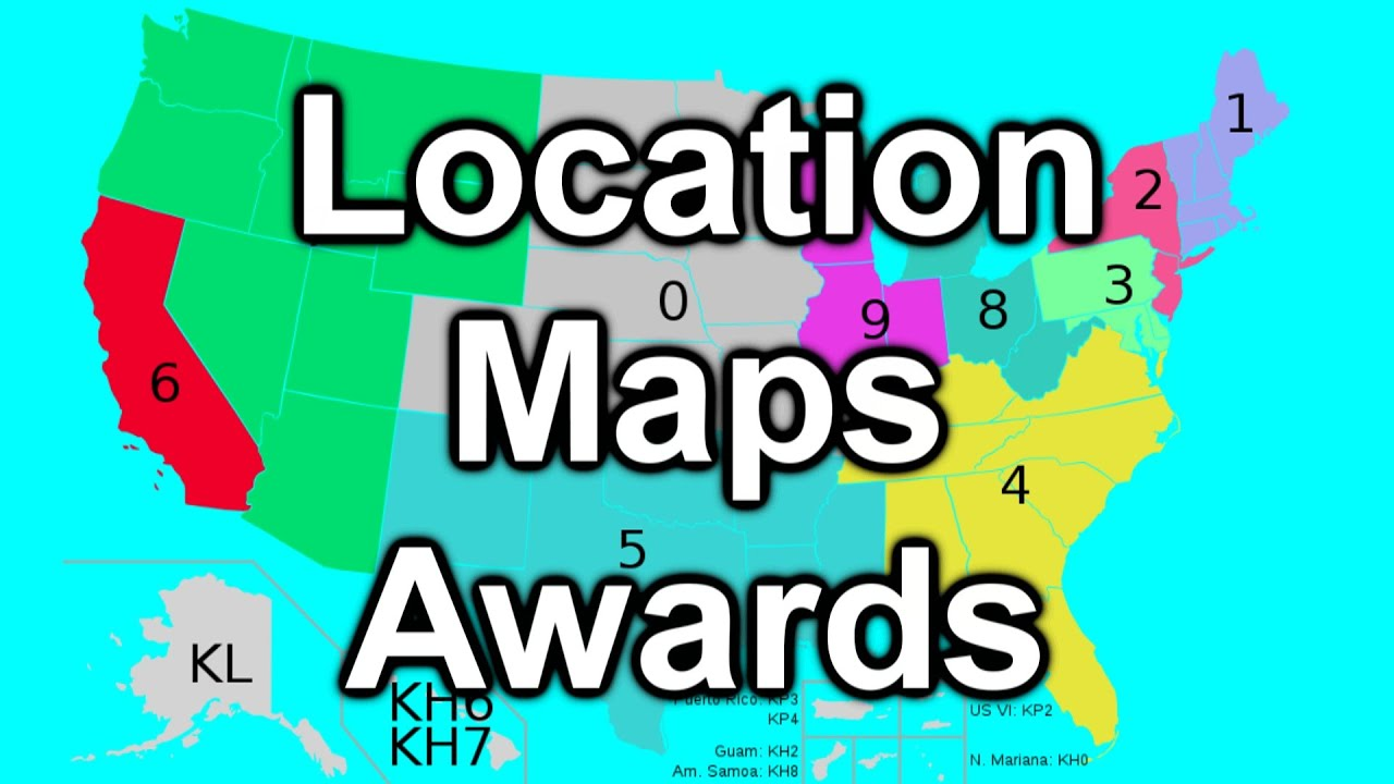 Location, maps and awards
