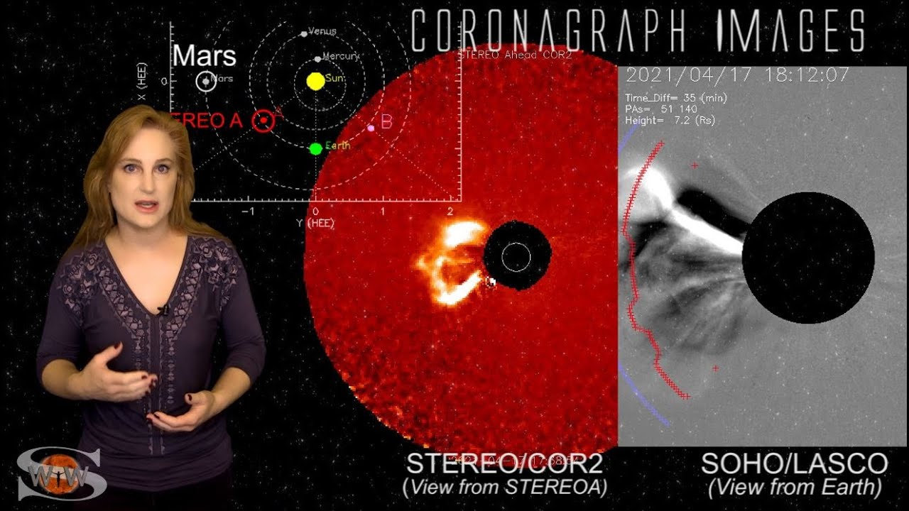 The Sun Fires a Big Flare & Solar Storm Towards Mars & Ingenuity