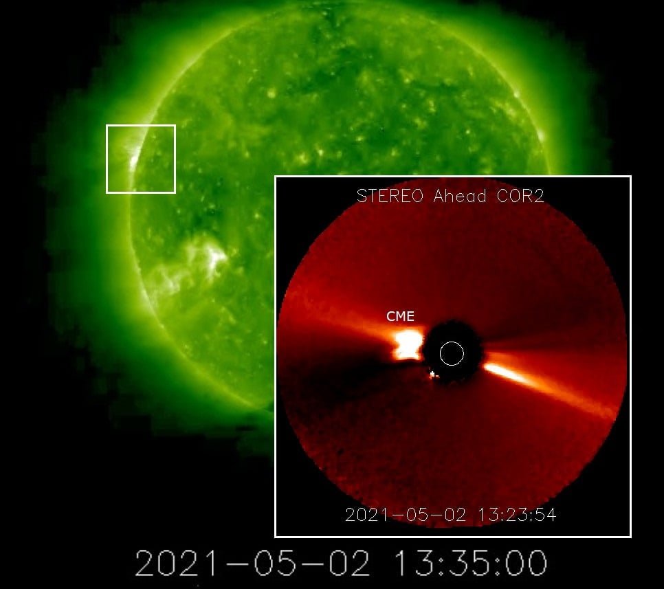 Goodbye Trio of Sunspots Hello Fast Solar Wind | Solar Storm Forecast 05.02.2021