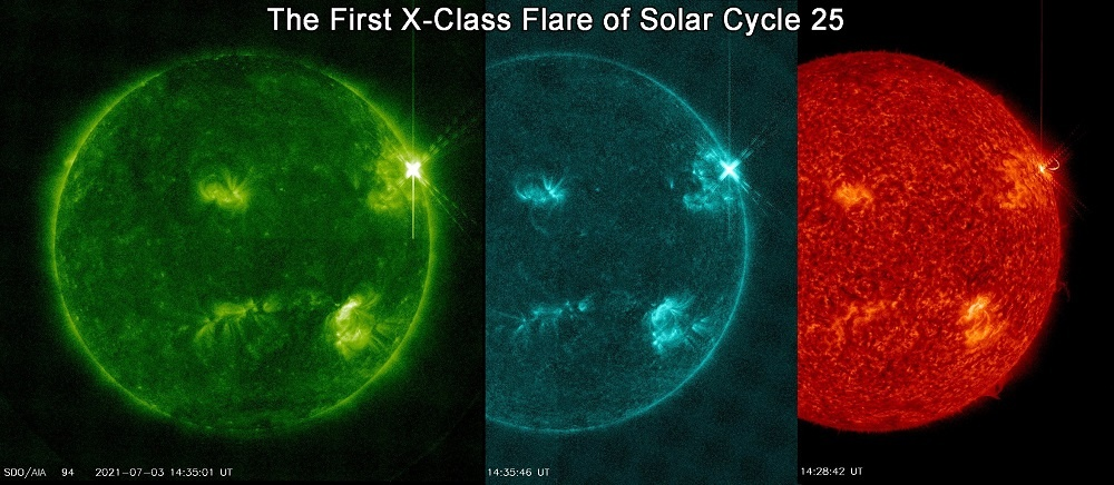 The First X-Flare of Solar Cycle 25 | Space Weather News 07.06.2021