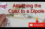 Attaching Coax to a Dipole