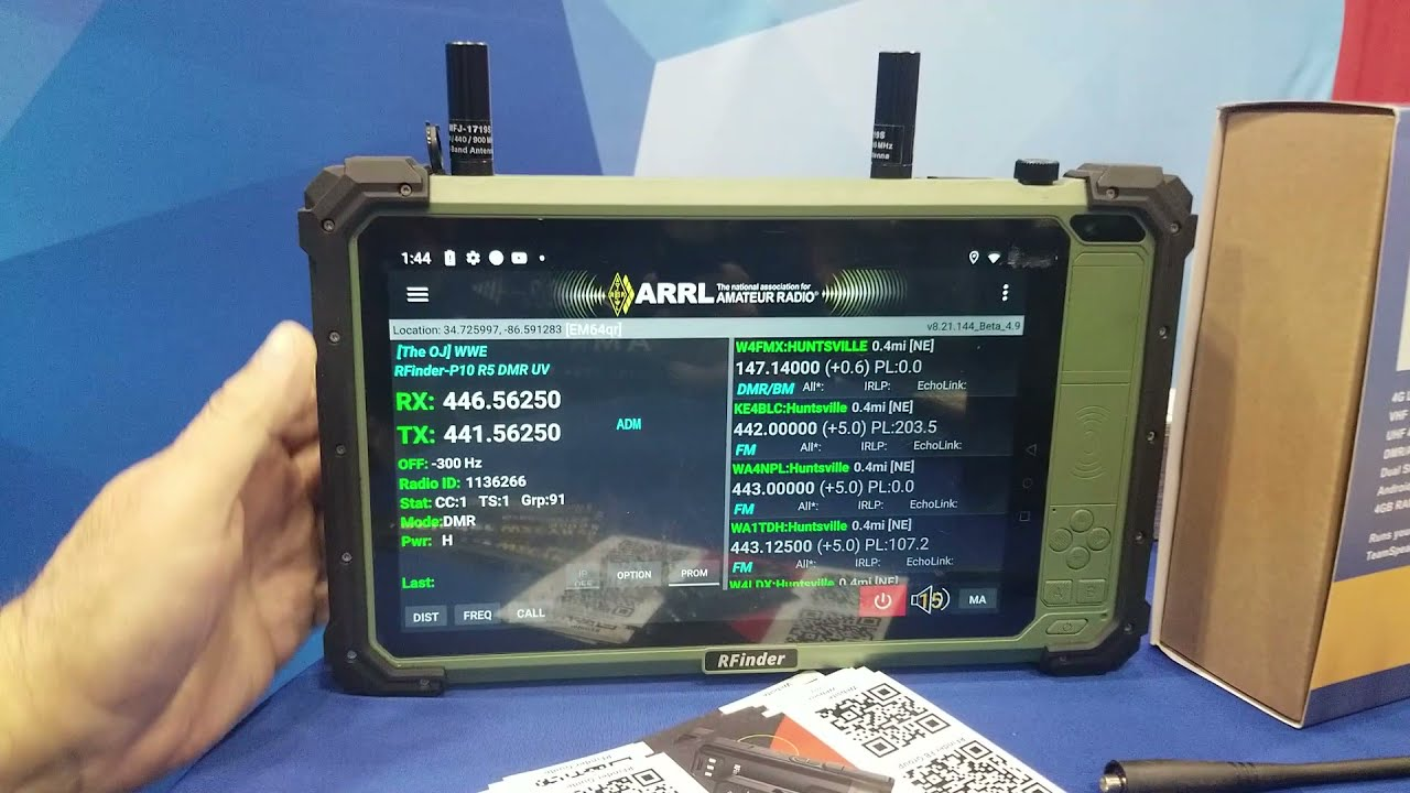 New RFinder P10 Tablet with Dual Band DMR and RTL-SDR Receiver – Huntsville Hamfest