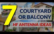 7 courtyard or balcony HF antenna ideas for small spaces