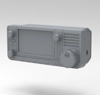 Download IC-705 Exterior Case 3D Data and Create Your Own Accessories