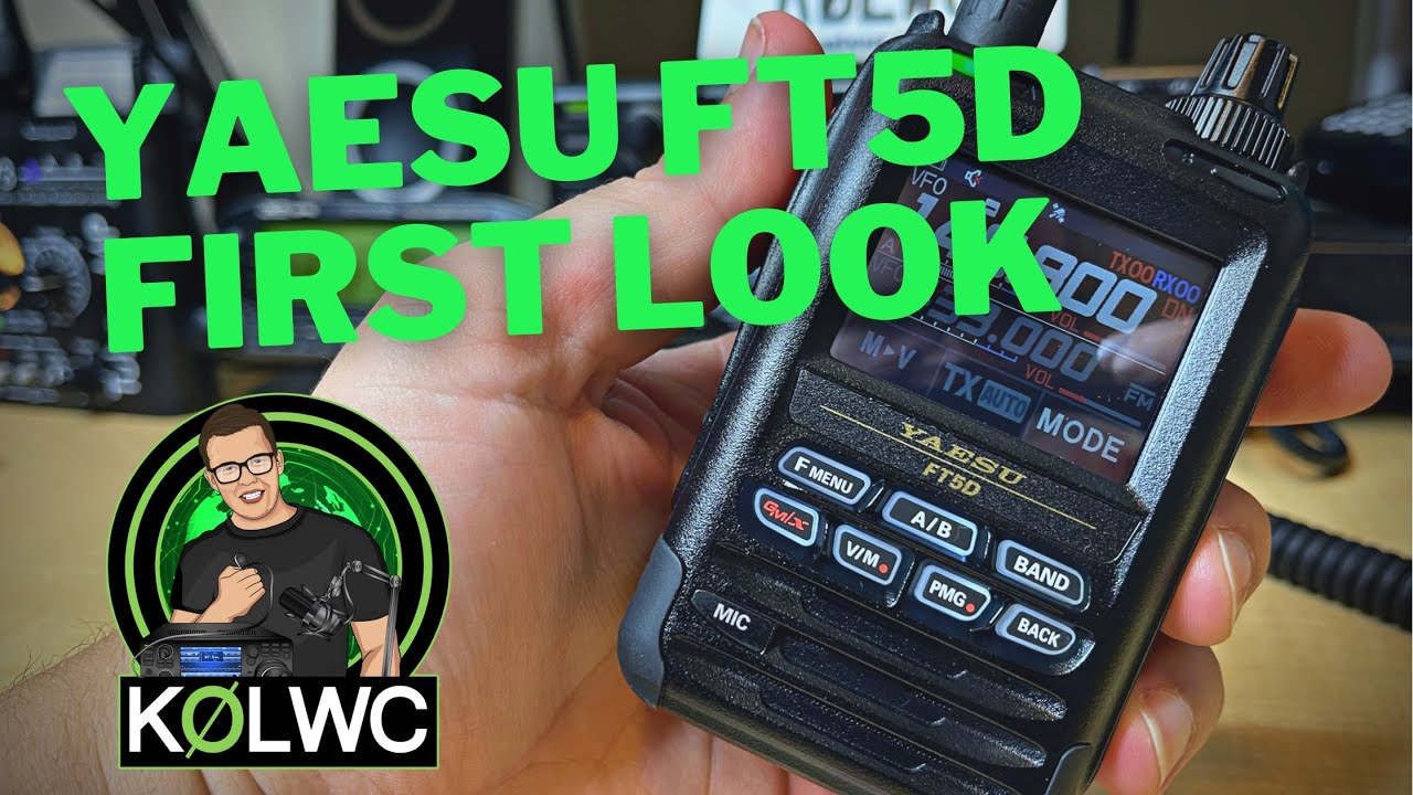Yaesu FT5D Unboxing and First Impressions!