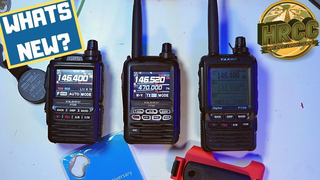 Yaesu FT5DR First Look, Features And Comparison FT3DR & FT2DR