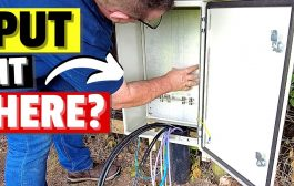 Fitting the Waterproof Coax Connector Cabinets in the Antenna Field