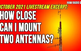 How close can I mount two antennas?